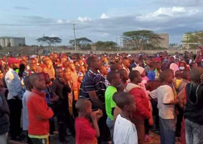 Impact Nations Evangelist Jeffrey Battles Preaching in Africa Large Event