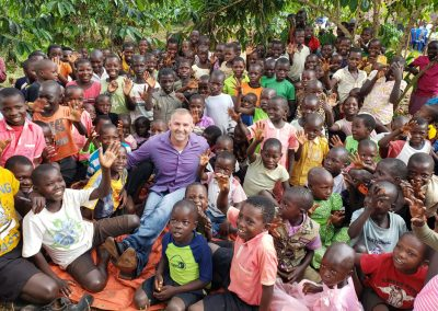 Impact Nations Evangelist Jeffrey Battles with Large Groupd of African Children