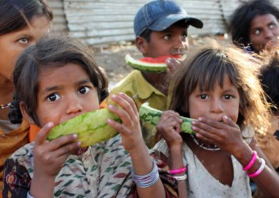 Impact Nations Poor Child Eating Melon