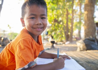 Impact Nations Southeast Asian Boy Learning
